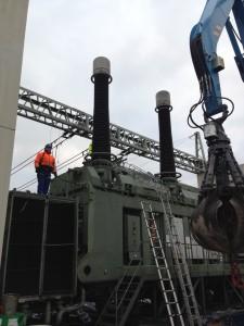 Demontage von Transformatoren, Generatoren, Kondensatoren und Turbinen